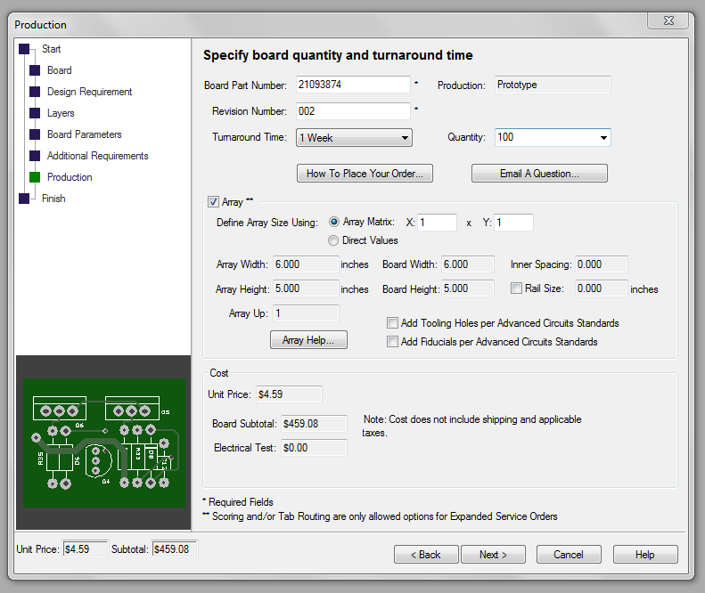 free pcb design software prompts