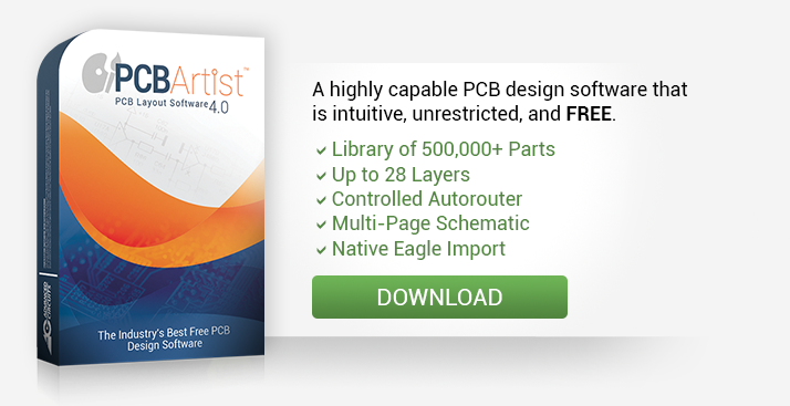 Printed Circuit Board Design Free PCB Artist Software