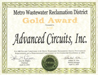 Water Environmental Excellence | Advanced Circuits