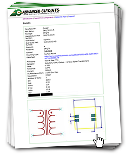 printed circuit board design software component library - PCB Artist | Advanced Circuits