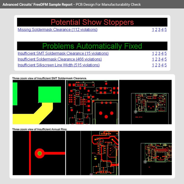 Printed Circuit Board Design Check - FreeDFM com | Advanced